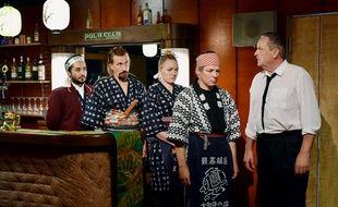Ilkka Koivula, Janne Hyytiäinen, Nuppu Koivu, Sakari Kuosmanen, Sherwan Haji dans L'autre côté de l'espoir d'Aki Kaurismäki