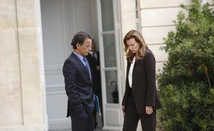 Valérie Trierweiler et son chef de cabinet Patrice Biancone, le 7 mai 2013 à l'Elysée