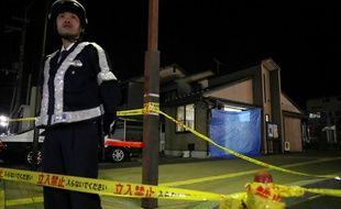 Le poste de police où a eu lieu le meurtre, à Hikone le 12 avril 2018.