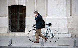 Un cycliste à Marseille (illustration)