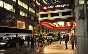 L'extérieur de l'hôtel Michelangelo dans lequel Richard Descoings séjournait au moment de sa mort, à New York.