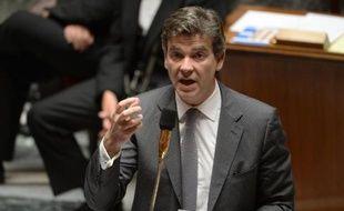 Le ministre de l'Economie Arnaud Montebourg à l'Assemblée le 15 juillet 2014