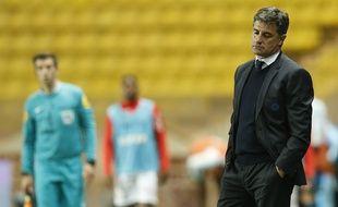 Le coach de l'OM Michel, le 17 avril 2016, à Monaco.
