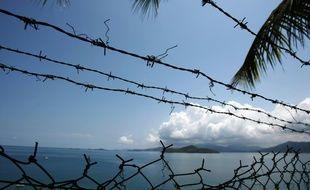 L'océan indien à Mayotte, vu depuis une base militaire, le 17 octobre 2009