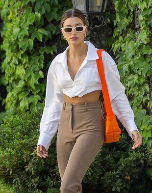 Hailey Baldwin, le 4 mai 2021, à Beverly Hills.