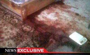 Capture vidéo diffusée par la chaîne américaine ABC News le 2 mai 2011 montrant la chambre où a été tué Oussama ben Laden au Pakistan.
