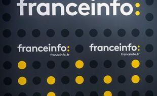Un décor de Franceinfo à la Maison de la radio.