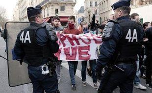 Clément Meric lors d'une manifestation le 17 avril 2013 à Paris
