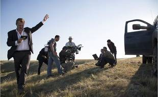Christopher Nolan sur le tournage d'Interstellar
