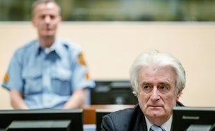 L'ex-leader des Serbes de Bosnie Radovan Karadzic à La Haye, le 24 mars 2016