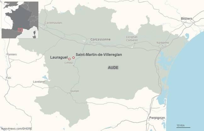 Les communes de Lauraguel et Saint-Martin-de-Villereglan, dans l'Aude.