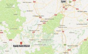 La commune d'Espaly-Saint-Marcel.