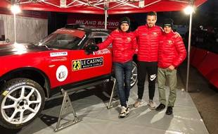 Nicolas Ciamin (à d.) prendra le départ du rallye de Monte-Carlo ce jeudi.