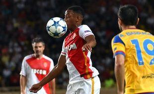 Anthony Martial lors de Monaco-Valence, en barrage retour de la Ligue des champions, le 25 août 2015.