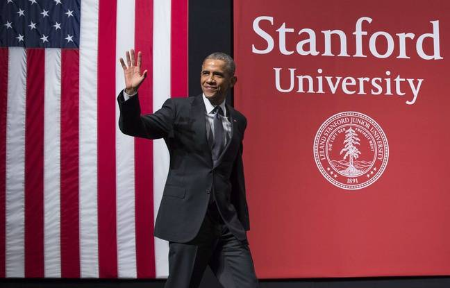 Barack Obama à l'université de Stanford lors d'un sommet sur la cybersécurité, le 13 février 2015.