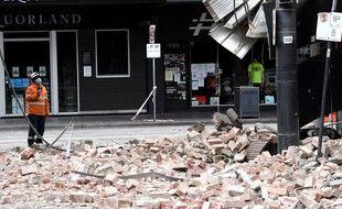 Le séisme a fait quelques dégâts mineurs, ici à Melbourne.