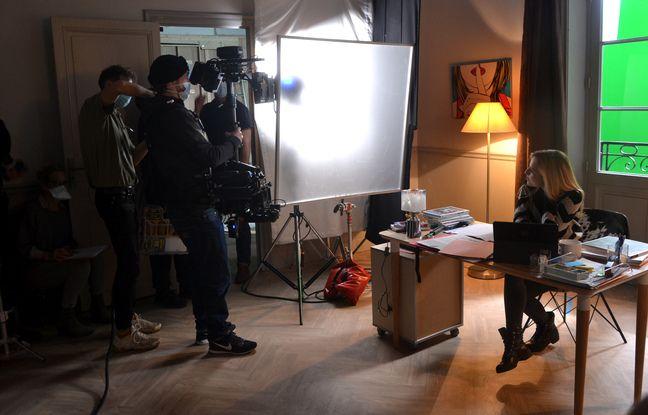 Lors du tournage d'une scène d'Un si grand soleil, mercredi