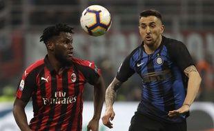Franck Kessié a été la cible de chants racistes lors du derby milanais.