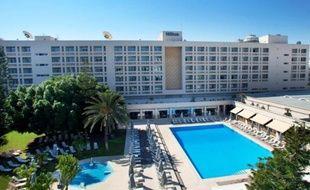 L'hôtel Hilton de Nicosie où résident les Parisiens.