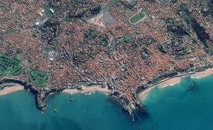 Biarritz au Pays Basque vue par le satellite Pléiades le 3 mars 2013.