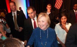 L'ancienne secrétaire d'Etat Hillary Clinton en visite à Aurora, dans le Colorado, pour soutenir un candidat démocrate le 21 octobre 2014