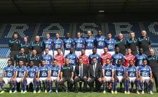 Photo officielle du Racing club de Strasbourg 2014-2015.