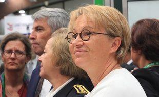 La maire de Rennes Nathalie Appéré, ici lors du salon agricole Space, le 10 septembre 2019, à Rennes.