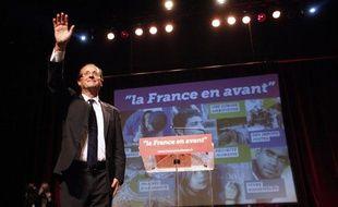 François Hollande présente son programme lors de son premier meeting de campagne à Clichy-la-Garenne, mercredi 27 avril 2011