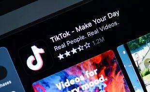 L'application Tiktok.