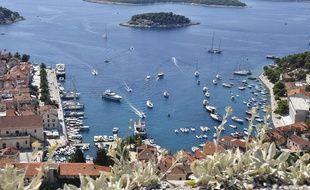 L'île de Hvar en Croatie. Illustration.