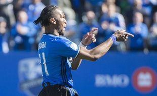 Didier Drogba fête un but le 30 avril 2016.