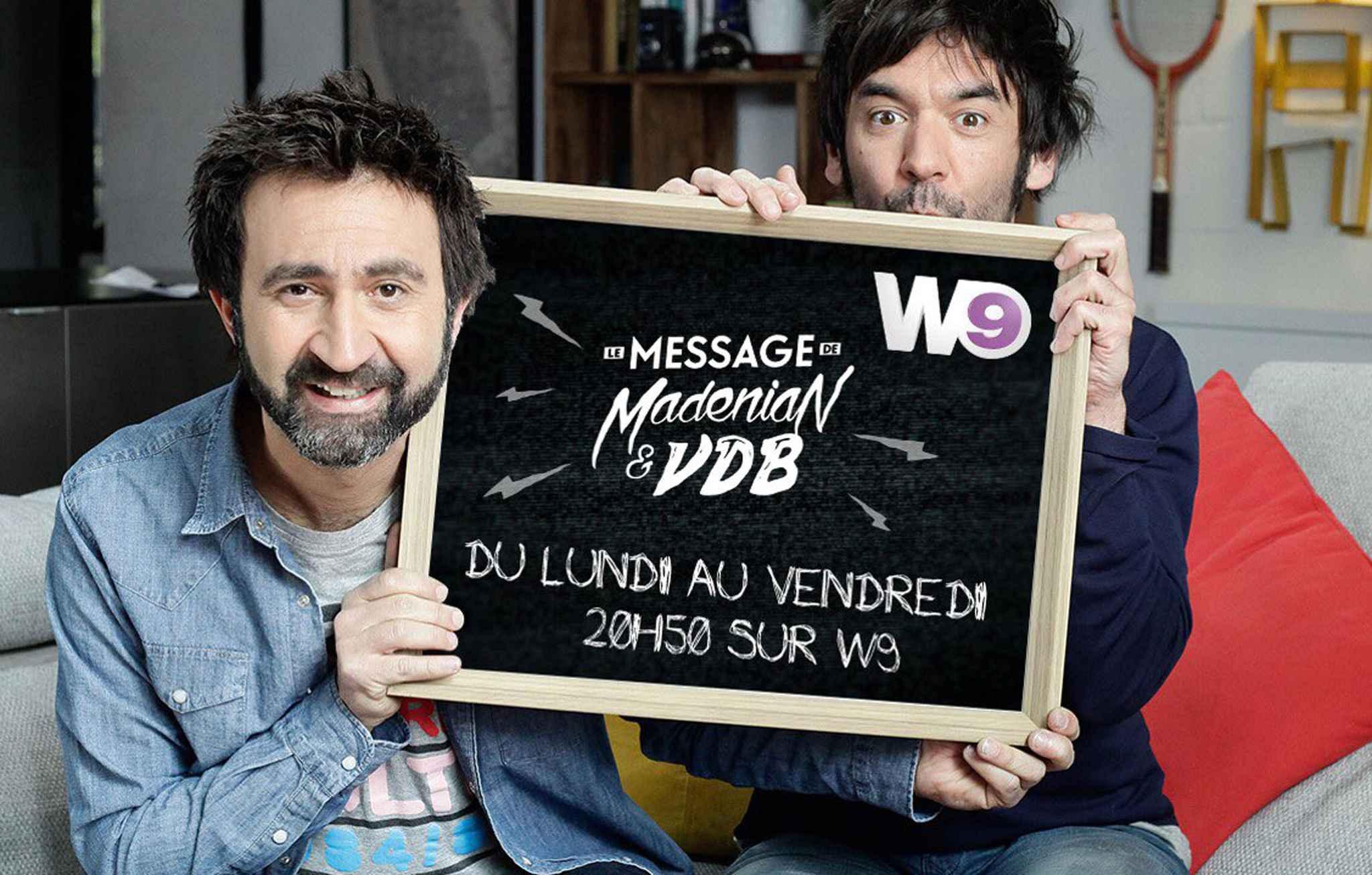 Écartés de France 2, Madénian et VDB passent sur W9