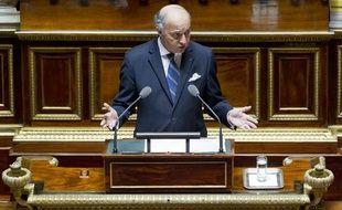 Laurent Fabius, ministre des Affaires étrangères, prononce un discours sur la Syrie au Sénat, le 4 septembre 2013.