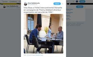 Villas-Boas a rencontré Thierry Aldebert à l'Intercontinental.