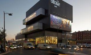 Le Cinéma Etoile Lilas dans le 19e arrondissement de Paris.