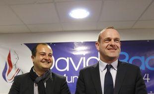 David Rachline et Steeve Briois à Fréjus le 27 mars.