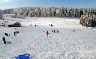 Illustration. La station de ski du Champ du Feu. Le 16 12 2007