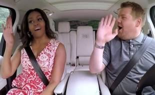 """La Première dame des Etats-Unis, Michelle Obama, et l'animateur du """"Carpool Karaoké"""", James Cordon, entonnent le tube de Beyoncé, """"Single Ladies"""""""