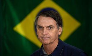 Le candidat d'extrême droite à la présidentielle, Jair Bolsonaro, à Rio de Janeiro, au Brésil, le 7 octobre 2018.
