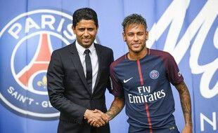 Neymar lors de sa présentation au Parc le 4 août 2017.