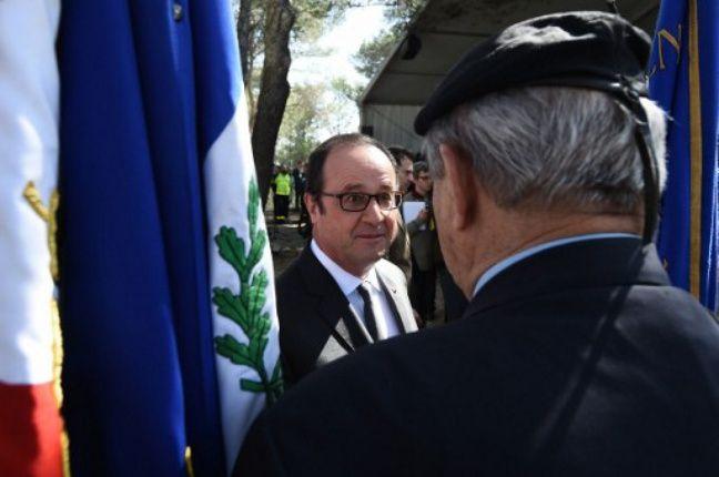 François Hollande au Mont-Faron, le 16 janvier 2017.