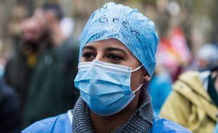 Les organisations syndicales CGT-FO-FSU, Solidaires, ont appelé l'ensemble du monde du travail du secteur privé et public à une grève générale et à une manifestation sur le thème de Tous unis pour nos droits. 5 octobre 2021, Toulouse, France.