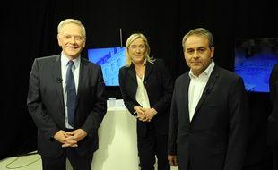 Debat regional Nord-Pas-de-Calais-Picardie avec Marine Le Pen, Xavier Bertrand et Pierre de Saintignon. Lille le 27 octobre 2015.