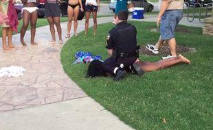 Vidéo amateur de l'intervention de la police à McKinney, au Texas, le 5 juin 2015.