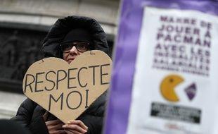 Manifestation pour l'égalité salariale entre hommes et femmes, le 7 novembre 2018 à Paris.