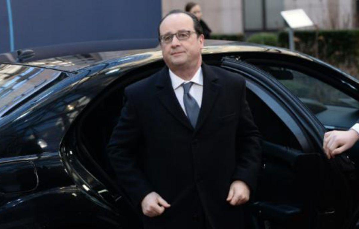 Le président français François Hollande, le 19 février 2016 à Bruxelles – STEPHANE DE SAKUTIN AFP