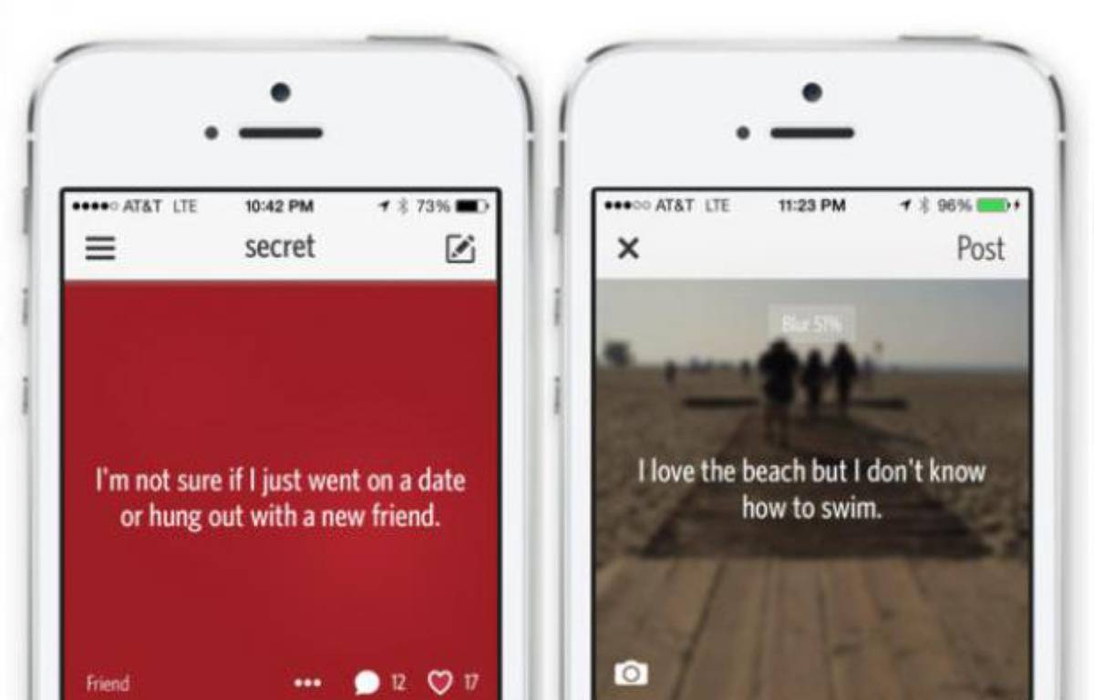 L'app iPhone Secret est un réseau social basé sur l'anonymat. – DR
