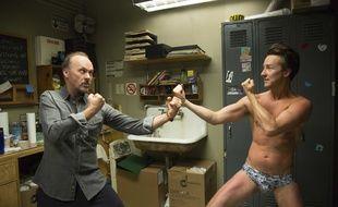 "Michael Keaton et Edward Norton dans ""Birdman""."