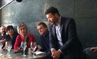 Geneviève et Yves Bernanos avec leur avocat Me Arié Alimi.