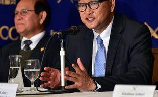 Sam Rainsy à Tokyo le 10 novembre 2015